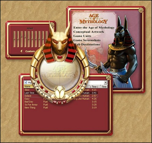 Age of Mythology WIndows Media Player Skin