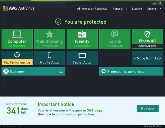 AVG ANtivirus 2014 free for 1 Year