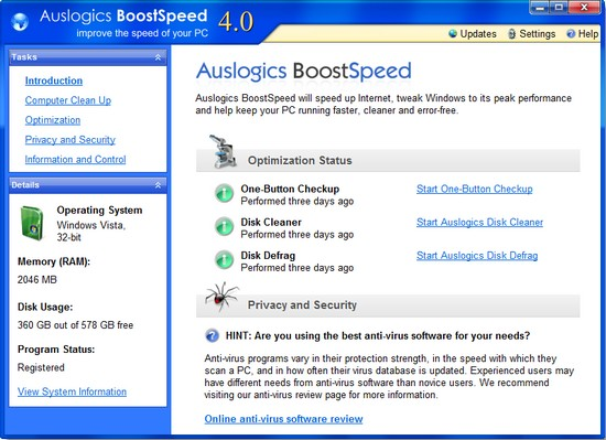 Auslogic BoostSpeed