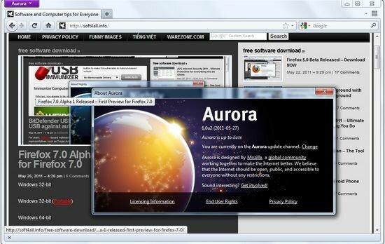 Firefox 6.0 alpha 2