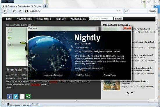 Firefox 9.0 alpha 1