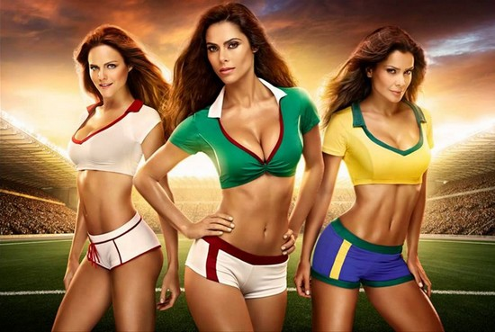 Sexy Babe FIFA World Cup 2014 Wallpaper Collection