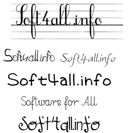 Hands writing fonts