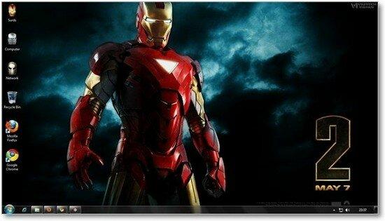 Iron man 2 windows Theme