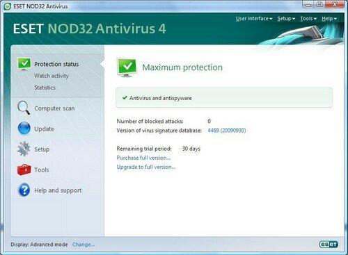 NOD32 Anvitvirus 4.0