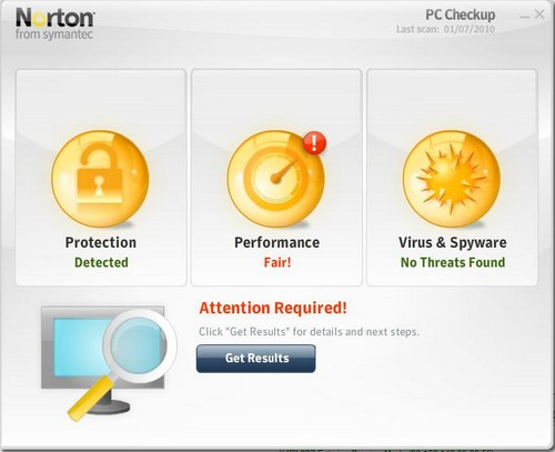 Norton PC Checkup