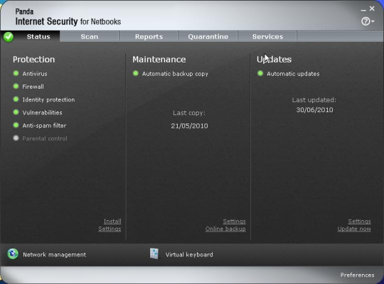 Pandan Internet Security for Netbooks 2011