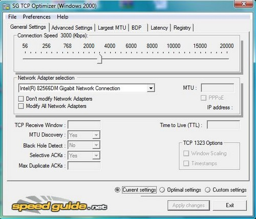 TCP Opimizer