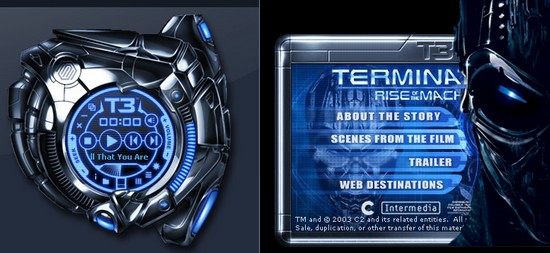 Terminator Windows Media Player Skin