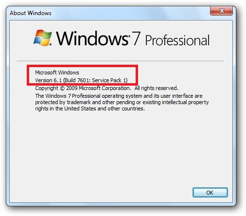 Windows 7 SP 1