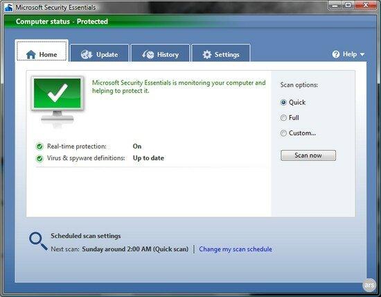 Microsoft Security Essential 2.0