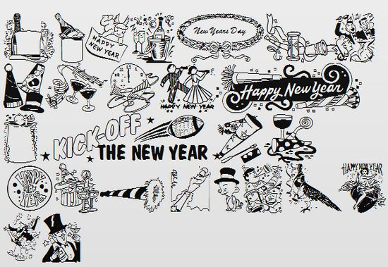 New Year Fonts