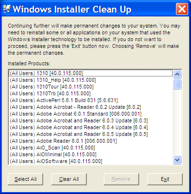 windowsinstallercleanup Windows Installer CleanUp Utility 2.5.0.1 Download Last Update