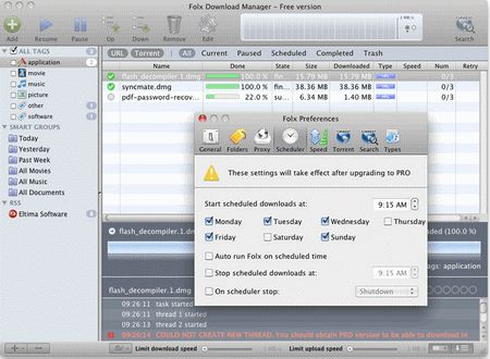 Folx - Free Download Manager for Mac